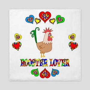 Rooster Lover Queen Duvet