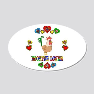 Rooster Lover 20x12 Oval Wall Decal