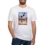Andrew Jackson on Horseback Fitted T-Shirt