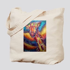 Giraffe! wildlife art Tote Bag