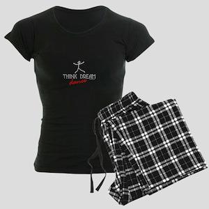 Think Dream Dance Women's Dark Pajamas
