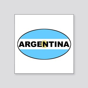 Argentina National Flag Oval Sticker