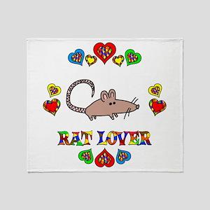 Rat Lover Throw Blanket