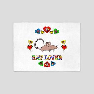 Rat Lover 5'x7'Area Rug