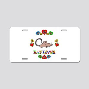 Rat Lover Aluminum License Plate
