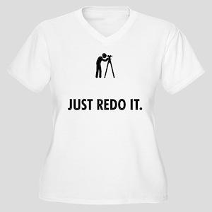Land Surveying Women's Plus Size V-Neck T-Shirt