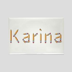 Karina Pencils Rectangle Magnet