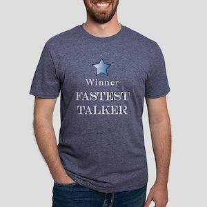 FastTalklDark Mens Tri-blend T-Shirt