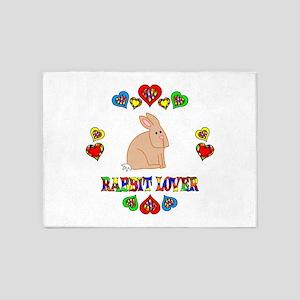 Rabbit Lover 5'x7'Area Rug