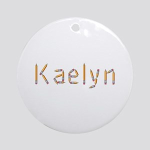 Kaelyn Pencils Round Ornament