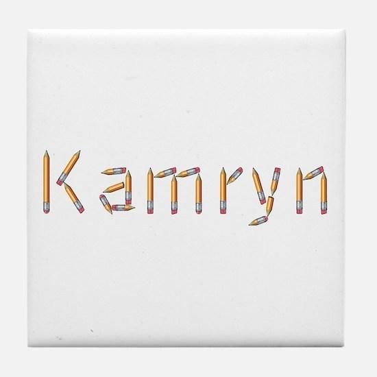 Kamryn Pencils Tile Coaster