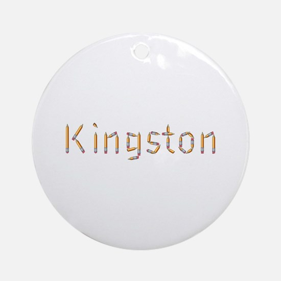 Kingston Pencils Round Ornament