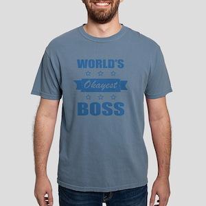 World's Okayest Boss Mens Comfort Colors Shirt