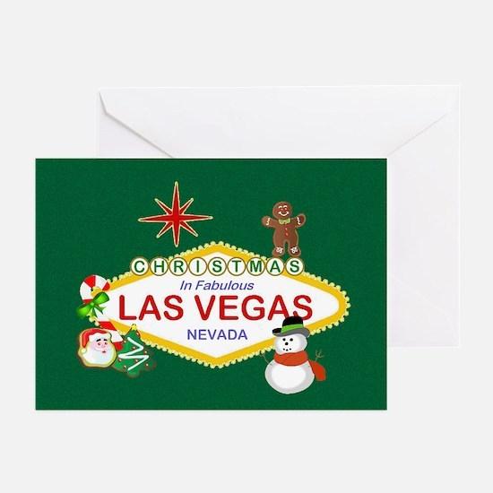 Christmas In Las Vegas Greeting Cards (Pk of 20)