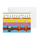 Bright Cheerful LV Christmas Greeting Cards Pk 20