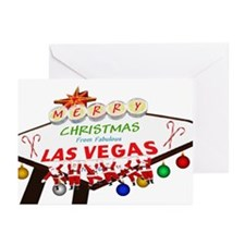 Hanging Santas LV Christmas Greeting Cards Pk 20