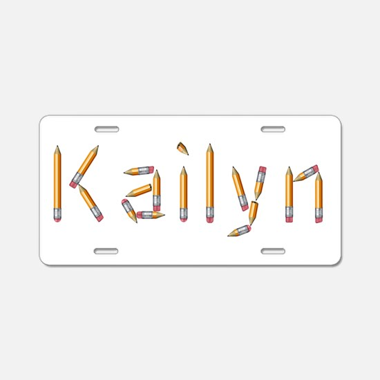 Kailyn Pencils Aluminum License Plate