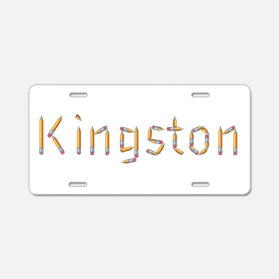 Kingston Pencils Aluminum License Plate