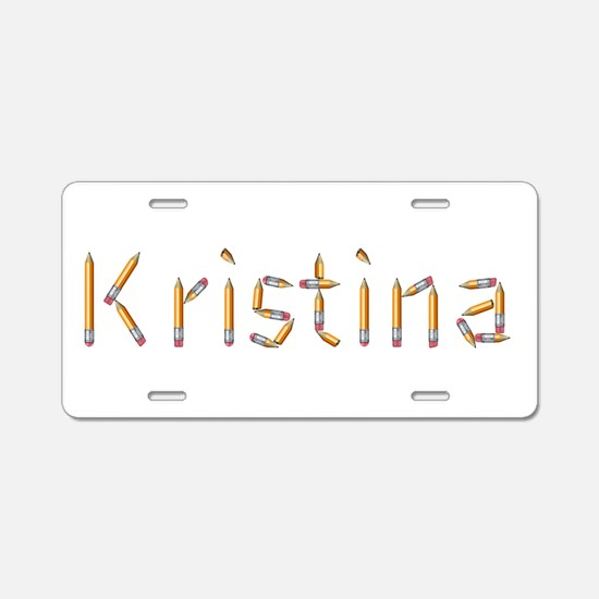 Kristina Pencils Aluminum License Plate