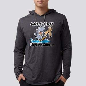 Wipe Out Uterine Cancer  Mens Hooded Shirt