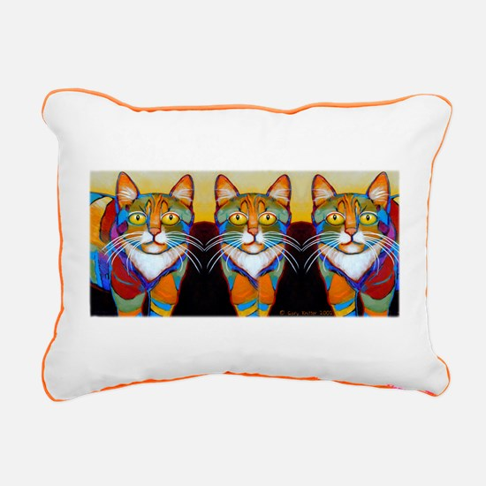Cat-of-Many-Colors Rectangular Canvas Pillow