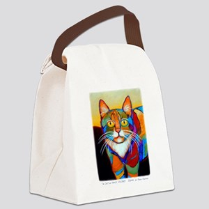 Cat-of-Many-Colors Canvas Lunch Bag