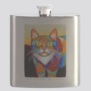 Cat-of-Many-Colors Flask