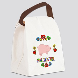 Pig Lover Canvas Lunch Bag
