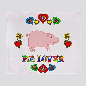 Pig Lover Throw Blanket