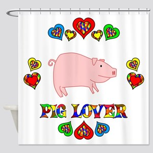 Pig Lover Shower Curtain