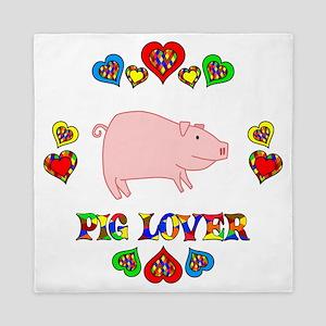 Pig Lover Queen Duvet