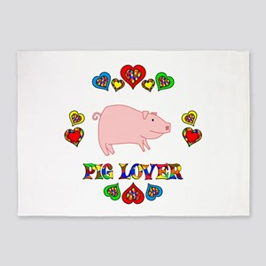 Pig Lover 5'x7'Area Rug