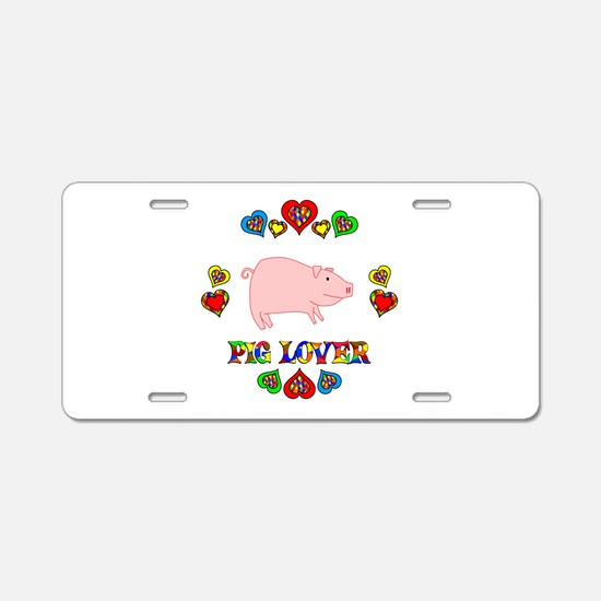 Pig Lover Aluminum License Plate