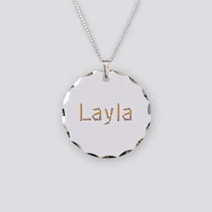 Layla Pencils Necklace Circle Charm