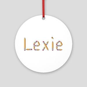 Lexie Pencils Round Ornament