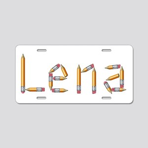 Lena Pencils Aluminum License Plate