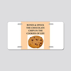 bones and spock Aluminum License Plate