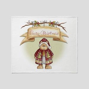 Beary Christmas 2556x2592 Throw Blanket
