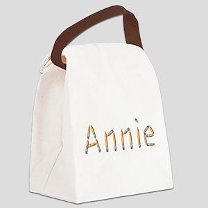 Annie Pencils Canvas Lunch Bag