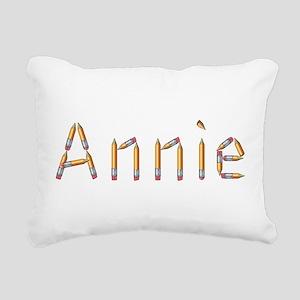 Annie Pencils Rectangular Canvas Pillow