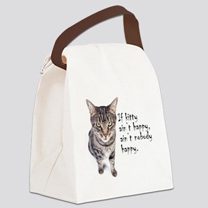 Aint Happy Canvas Lunch Bag
