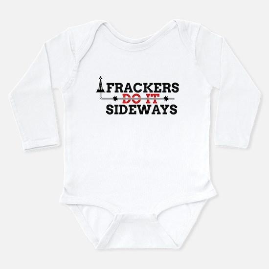 Frackers Do It Sideways Long Sleeve Infant Bodysui