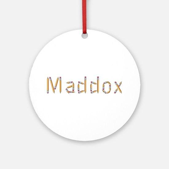Maddox Pencils Round Ornament