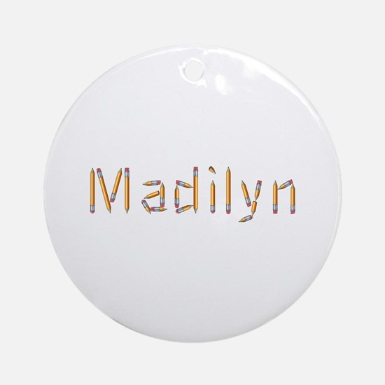 Madilyn Pencils Round Ornament