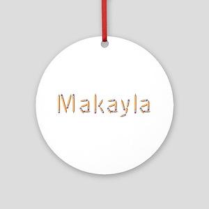 Makayla Pencils Round Ornament