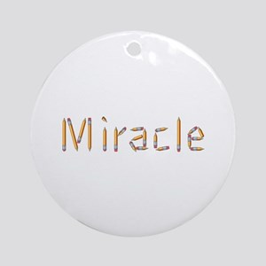 Miracle Pencils Round Ornament