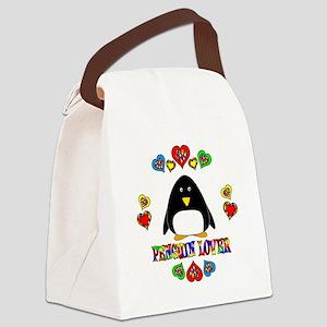 Penguin Lover Canvas Lunch Bag