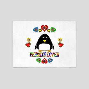 Penguin Lover 5'x7'Area Rug