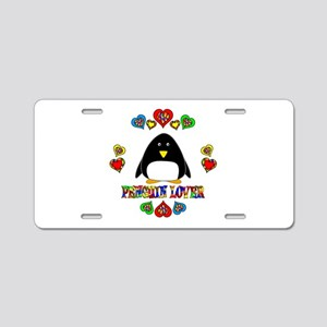 Penguin Lover Aluminum License Plate