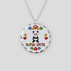 Panda Lover Necklace Circle Charm